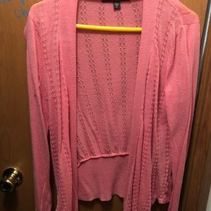 Light weight coral pink cardigan